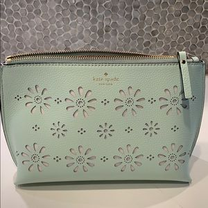 Kate Spade mint green cosmetic case